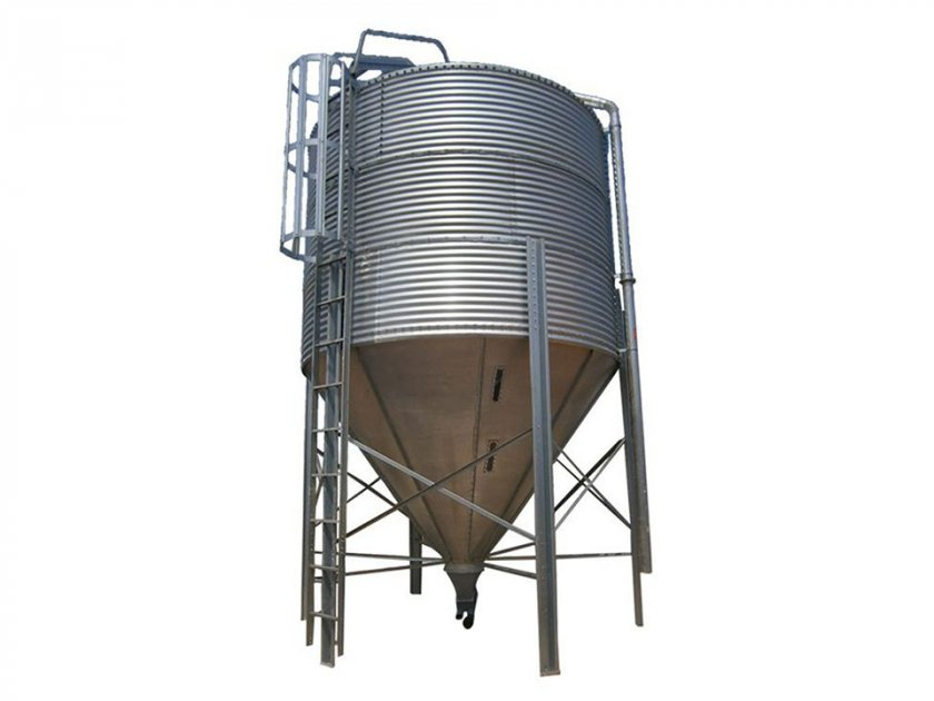 Main feeding line silo and hopper